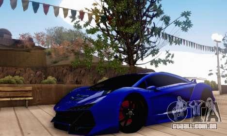 Pegassi Zentorno GTA 5 v2 para GTA San Andreas esquerda vista