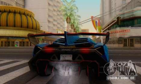 Lamborghini LP750-4 2013 Veneno Blue Star para GTA San Andreas vista direita