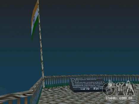 Bandeira da índia no monte Chilliad para GTA San Andreas