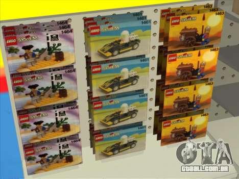 O LEGO shop para GTA San Andreas por diante tela