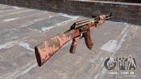 A AK-47 Red tiger para GTA 4 segundo screenshot