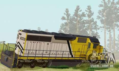 GTA V Trem 2 para GTA San Andreas esquerda vista