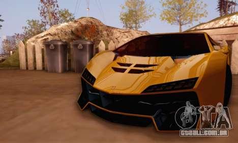 Pegassi Zentorno GTA 5 v2 para GTA San Andreas vista traseira