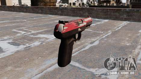 Arma FN Cinco-sete interior Vermelho para GTA 4 segundo screenshot