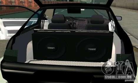 VAZ 21123 TURBO-Cobra v2 para GTA San Andreas vista interior