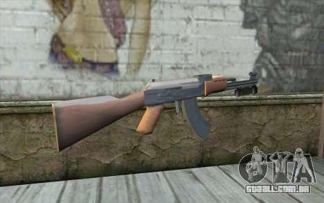 AK47 com uma baioneta para GTA San Andreas segunda tela