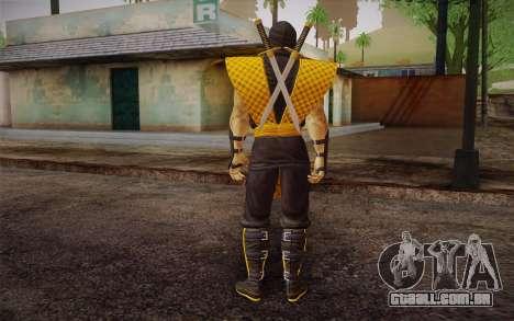 Classic Scorpion из MK9 DLC para GTA San Andreas segunda tela