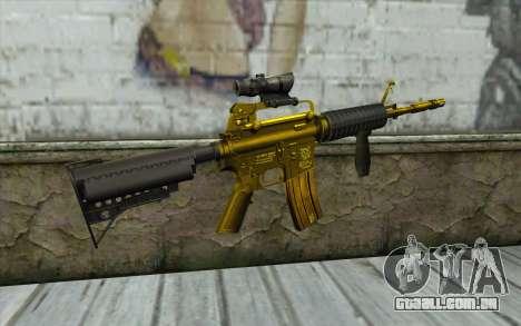 Ouro M4, com vista para GTA San Andreas segunda tela