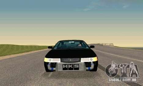VAZ 21123 TURBO-Cobra v2 para GTA San Andreas vista traseira