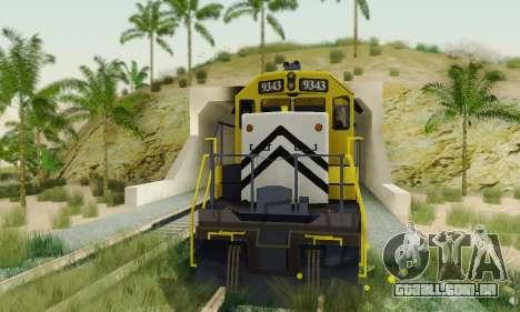 GTA V Trem 2 para GTA San Andreas vista direita