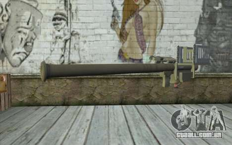 FIM-92 Stinger para GTA San Andreas segunda tela