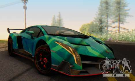 Lamborghini LP750-4 2013 Veneno Blue Star para GTA San Andreas vista traseira
