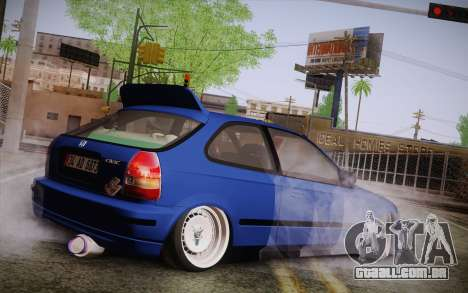 Honda Civic 1.4 BS Garage para GTA San Andreas esquerda vista
