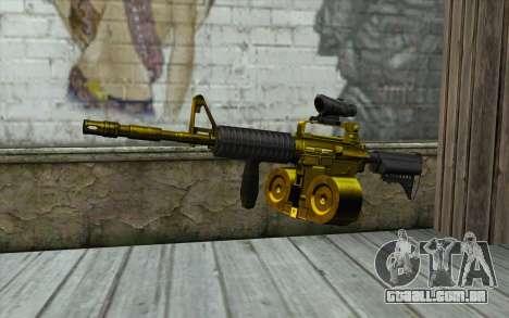 Ouro M4, com uma loja para GTA San Andreas