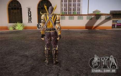 Escorpião из Mortal Kombat 9 para GTA San Andreas segunda tela