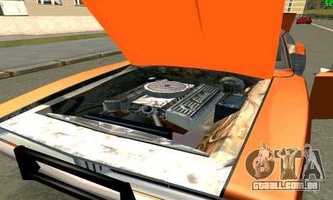 Dodge Charger General lee para GTA San Andreas vista direita