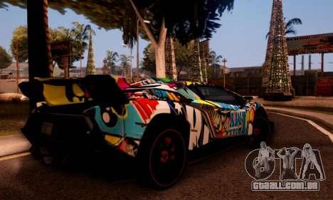 Lamborghini LP750-4 2013 Veneno Stikers Editions para GTA San Andreas vista traseira