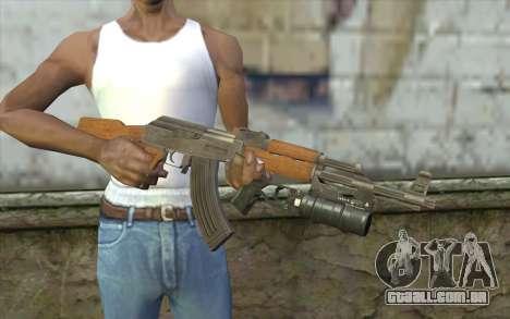 AK47 with GP-25 para GTA San Andreas terceira tela