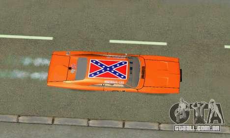 Dodge Charger General lee para GTA San Andreas vista interior