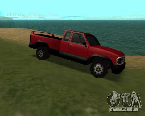 Nova Pickup para GTA San Andreas traseira esquerda vista