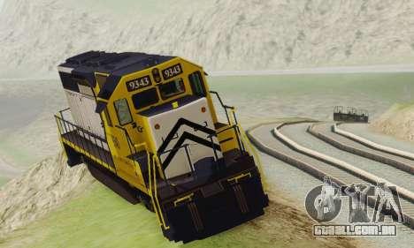 GTA V Trem 2 para GTA San Andreas traseira esquerda vista