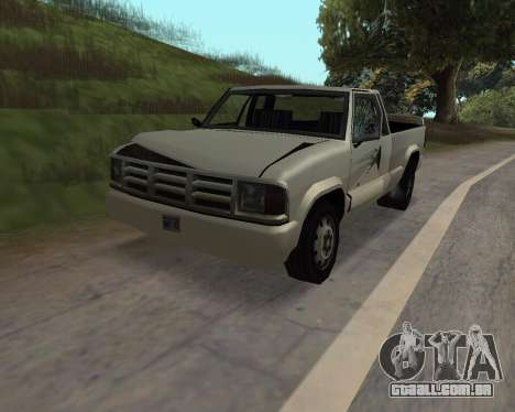 Nova Pickup para GTA San Andreas vista traseira