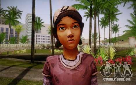 Clementine из The Walking Dead para GTA San Andreas terceira tela