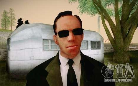 Agent Smith from Matrix para GTA San Andreas terceira tela