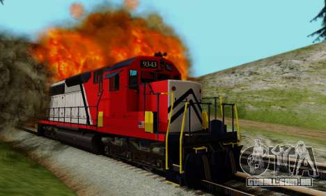 GTA V Trem para GTA San Andreas vista interior
