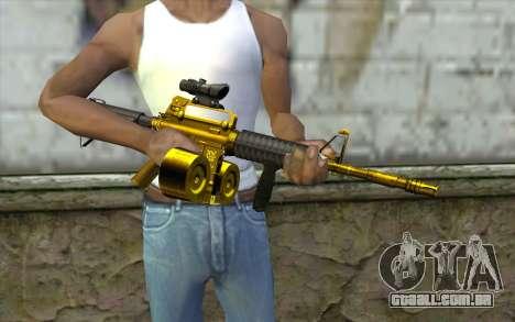 Ouro M4, com uma loja para GTA San Andreas terceira tela