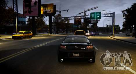 ENB Life Graphics para GTA 4 por diante tela