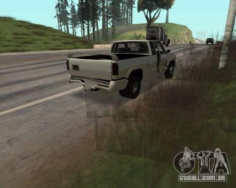 Nova Pickup para GTA San Andreas vista interior