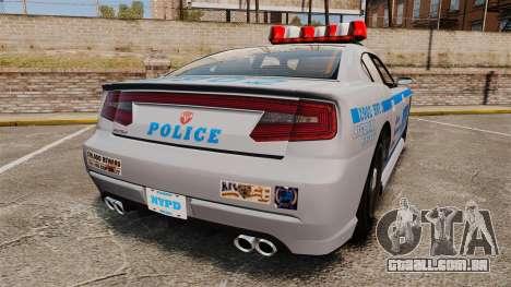 GTA V Bravado Buffalo NYPD para GTA 4 traseira esquerda vista
