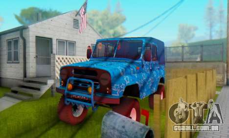 UAZ 469 Blue Star para GTA San Andreas vista inferior