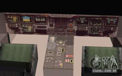 B-2 Spirit para GTA San Andreas traseira esquerda vista