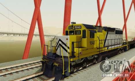 GTA V Trem 2 para GTA San Andreas vista traseira