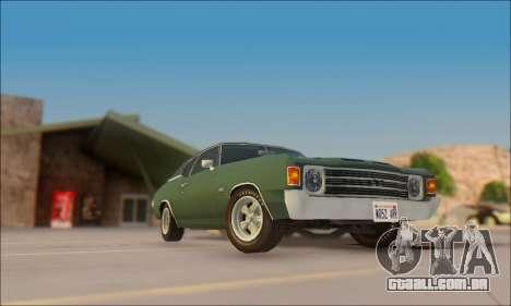 Chevrolet Chevelle SS 454 1971 para GTA San Andreas traseira esquerda vista