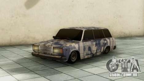 VAZ 2104 Em camuflagem para GTA San Andreas traseira esquerda vista