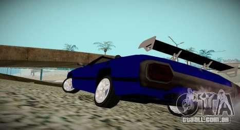 New Stallion para GTA San Andreas esquerda vista