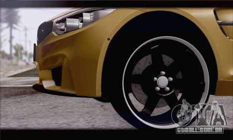 BMW M4 F80 Stanced para GTA San Andreas traseira esquerda vista