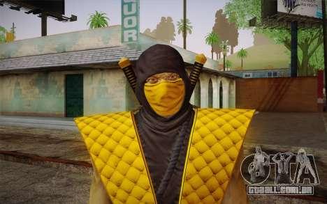 Classic Scorpion из MK9 DLC para GTA San Andreas terceira tela