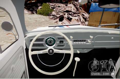 Volkswagen Beetle 1962 para GTA 4 traseira esquerda vista