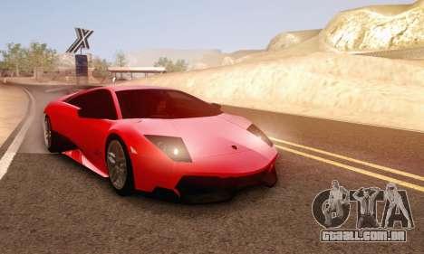 Lamborghini Murcielago LP670-4 SV para GTA San Andreas vista superior