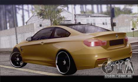BMW M4 F80 Stanced para GTA San Andreas esquerda vista