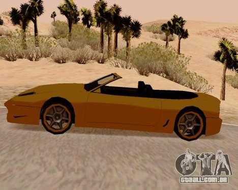 Super GT Conversível para GTA San Andreas esquerda vista