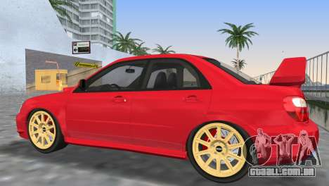 Subaru Impreza WRX STI 2005 para GTA Vice City vista inferior