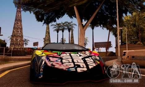 Lamborghini LP750-4 2013 Veneno Stikers Editions para GTA San Andreas esquerda vista