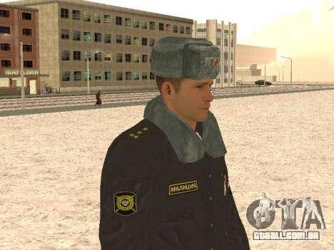 Um capitão da polícia para GTA San Andreas por diante tela
