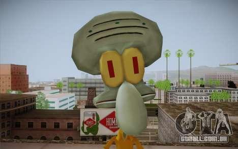 Squidward Tentacles para GTA San Andreas terceira tela