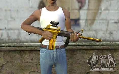 Ouro M4, com vista para GTA San Andreas terceira tela
